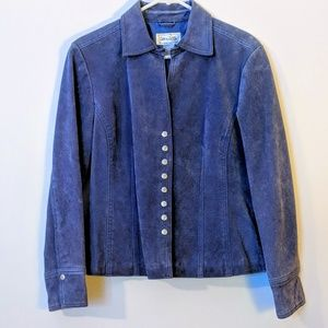 COPY - LiveA Little Leather BlueSuede Snap Jacket…
